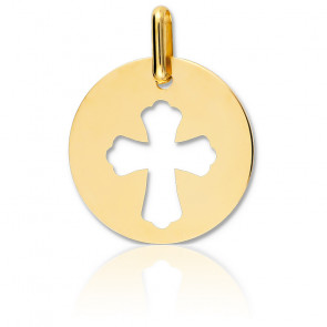 Médaille Croix Ajourée Or Jaune 18K