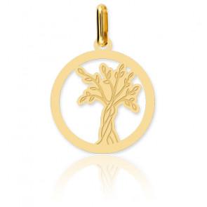Médaille Arbre de Vie Ajouré Or Jaune 18K