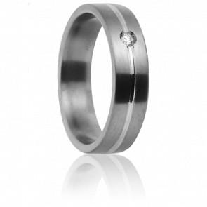 Alliance Dioné Titanium, Or Blanc et Diamant - Aurodesign