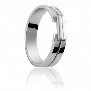 Alliance Ceres 5 mm Or Blanc 18K