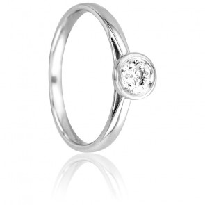 Bague Bright Or Blanc 18K & Diamants