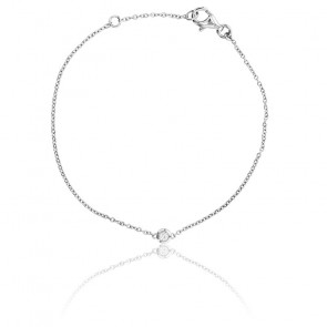 Bracelet Bright Or Blanc 18K et Diamant 0,05 ct