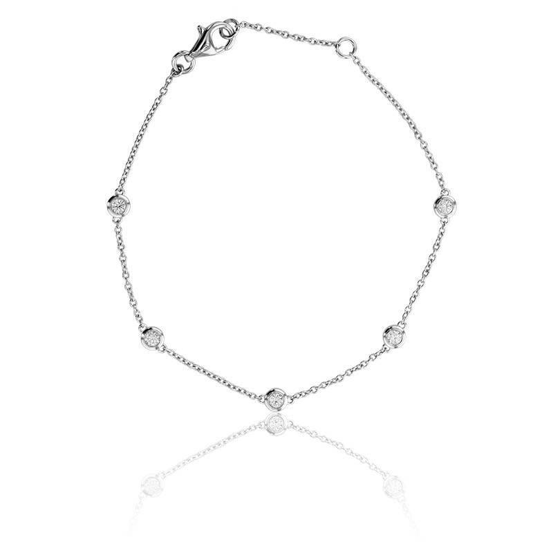 Bracelet Multi Bright Or Blanc 18K et Diamants