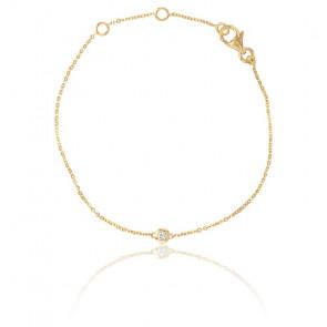 Bracelet Bright Or Jaune 9K et Diamant 0,05 ct