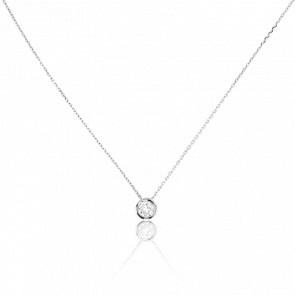 Collier Bright Or Blanc 18K & Diamant 0,43 ct