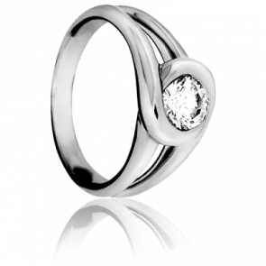 Bague Passion Or Blanc