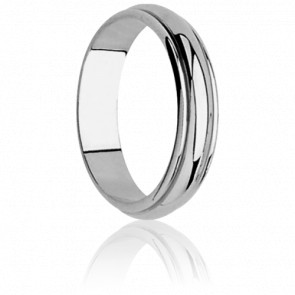 Alliance Dinard 6 mm Or Blanc 18K
