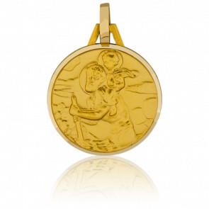 Médaille Saint Christophe Or Jaune 18K - Pichard-Balme