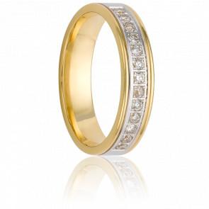 Alliance Nata 3 mm or jaune 18K & diamants