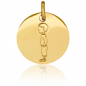 Médaille Mon Enfant Chéri Garçon Or Jaune 18K
