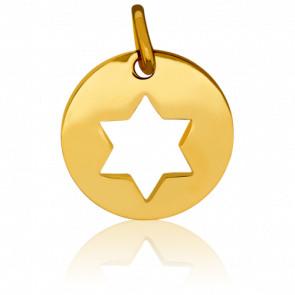 Médaille Etoile de David Ajourée Or Jaune 18K - Pichard-Balme