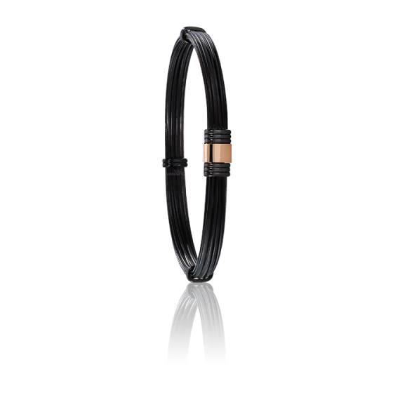 bracelet poils l phant 6 mm pvd or rose albanu ocarat. Black Bedroom Furniture Sets. Home Design Ideas