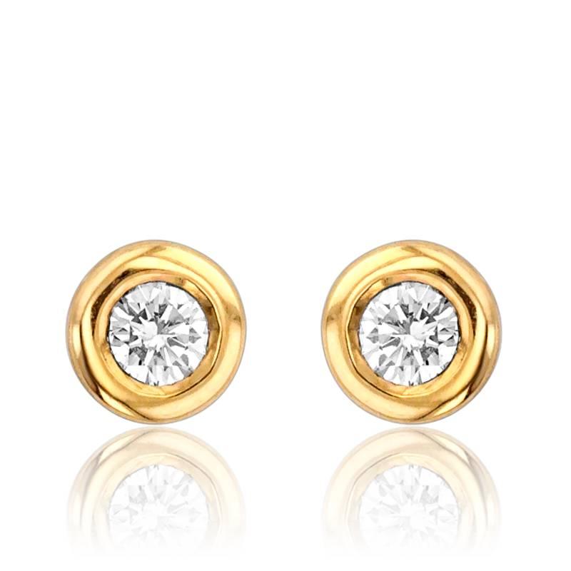 Boucle d'oreille diamant 2 carat
