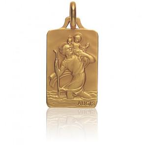 Médaille Saint Christophe Or Jaune 18K - Augis