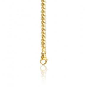 Bracelet Maille Anglaise Massive, Or Jaune 18K, longueur 21 cm
