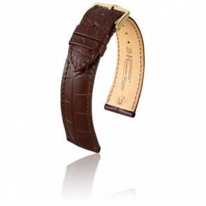 Bracelet Genuine Alligator Marron Mat - Entrecorne 18 mm