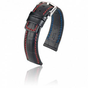 Bracelet Grand Duke Noir/Rouge - Entrecorne 18 mm
