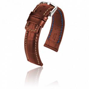 Bracelet Grand Duke Marron Doré - Entrecorne 24 mm