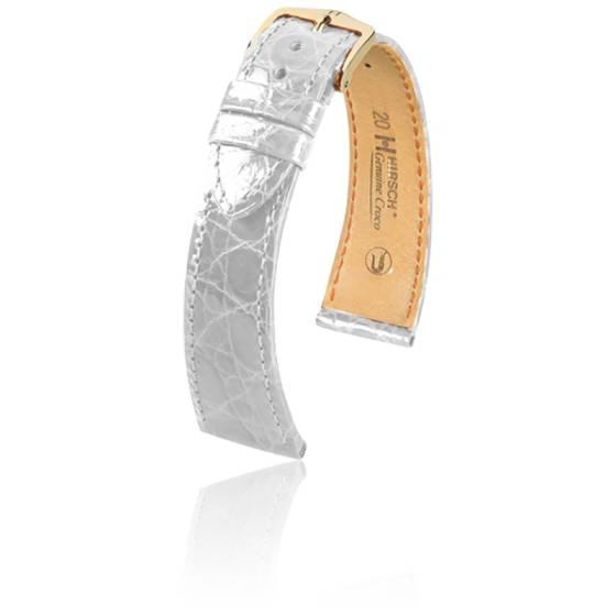 2019 meilleurs en soldes chaussure Bracelet Genuine Croco Blanc - Entrecorne 20 mm - Hirsch - Ocarat