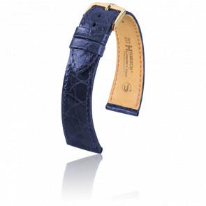 Bracelet Genuine Croco Bleu - Entrecorne 14 mm