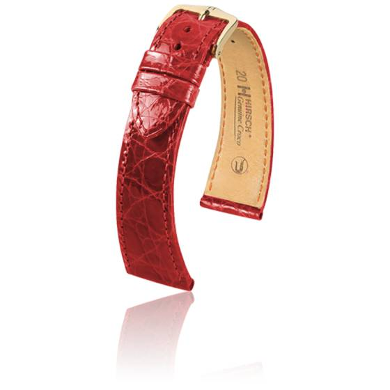 Bracelet Genuine Croco Rouge - Entrecorne 19 mm