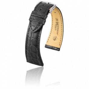 Bracelet Regent Noir Mat / Silver 20 mm