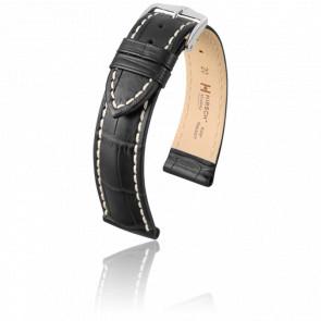 Bracelet Modena Noir - Entrecorne 24 mm