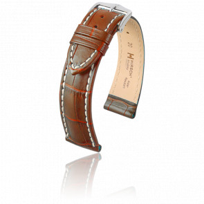 Bracelet Modena Marron Doré - Entrecorne 22 mm