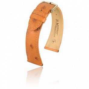 Bracelet Massai Ostrich Miel - Entrecorne 18 mm