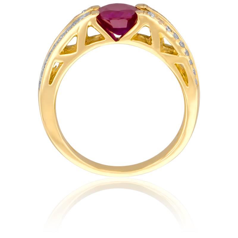 bague tanaga rubis diamants et or jaune 18k de la marque porchet ocarat. Black Bedroom Furniture Sets. Home Design Ideas