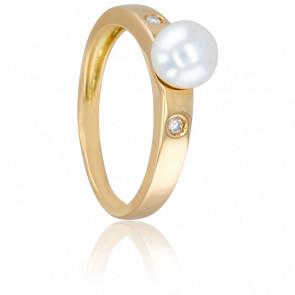 Bague Cap Flattery, Perle et Diamants