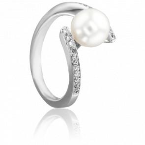 Bague Cap Charles, Perle et Diamants