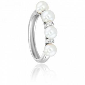 Bague Cap Farewell, Perles et Diamants