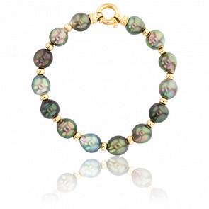 Bracelet Kahaualea, Perles et Or jaune
