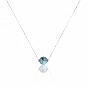 Collier Housatonic, Perle et Or Blanc