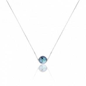 Collier Housatonic, Perle et Or Blanc 18K