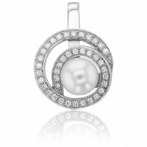Pendentif Cap Columbia, Perle et Diamants