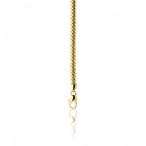 Bracelet Maille Anglaise Creuse, Or Jaune 18K, longueur 21 cm