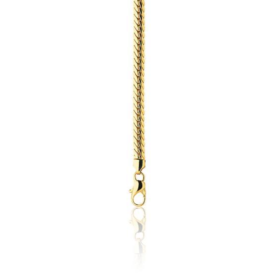 commander en ligne design distinctif sensation de confort Bracelet Maille Anglaise Creuse, Or Jaune 18K, 23 cm - Ocarat