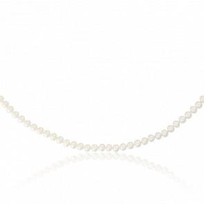 Collier perles, nacre & or jaune 18k, ( 4,50-5 mm)
