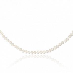 Collier perles, nacre & or jaune 18k, (5,50-6 mm)