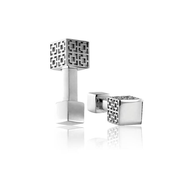 boutons de manchette ursul monogramme boutons de manchette en argent ocarat. Black Bedroom Furniture Sets. Home Design Ideas
