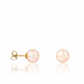 Puces d'Oreilles Perles Roses Ø8-8,50 mm