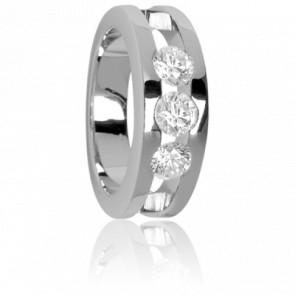 Bague Trilogie de Diamants Or Blanc