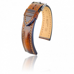 Bracelet Lucca Marron Doré - Entrecorne 20 mm