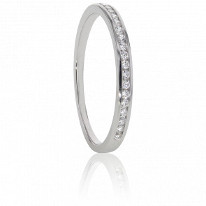 Alliance Anténor Or Blanc 18K & Diamants G/SI2 0,10ct