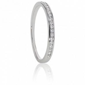 Alliance Anténor, Diamants 0,15 ct & Or Blanc 18K