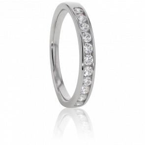 Alliance Anténor, Diamants 0,30 ct & Or Blanc 18K