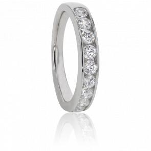 Alliance Anténor Or Blanc et Diamants G/SI2 0,77ct