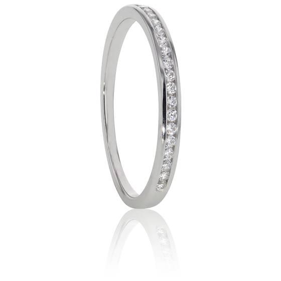 Alliance Anténor, Diamants 0,10 ct & Platine